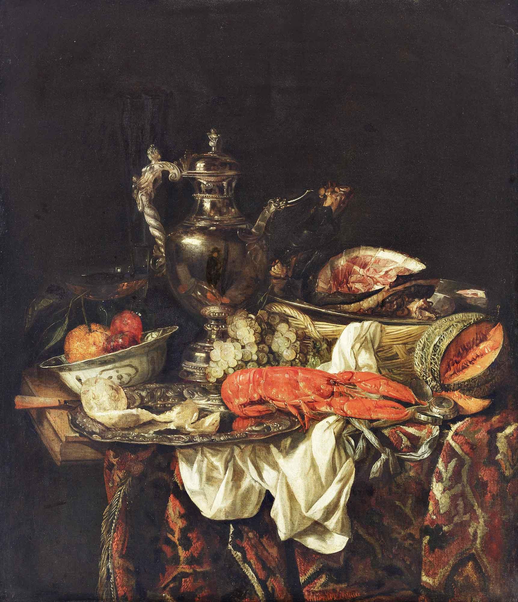 Abraham Hendrick van Beijeren Gümüş Sürahi ile