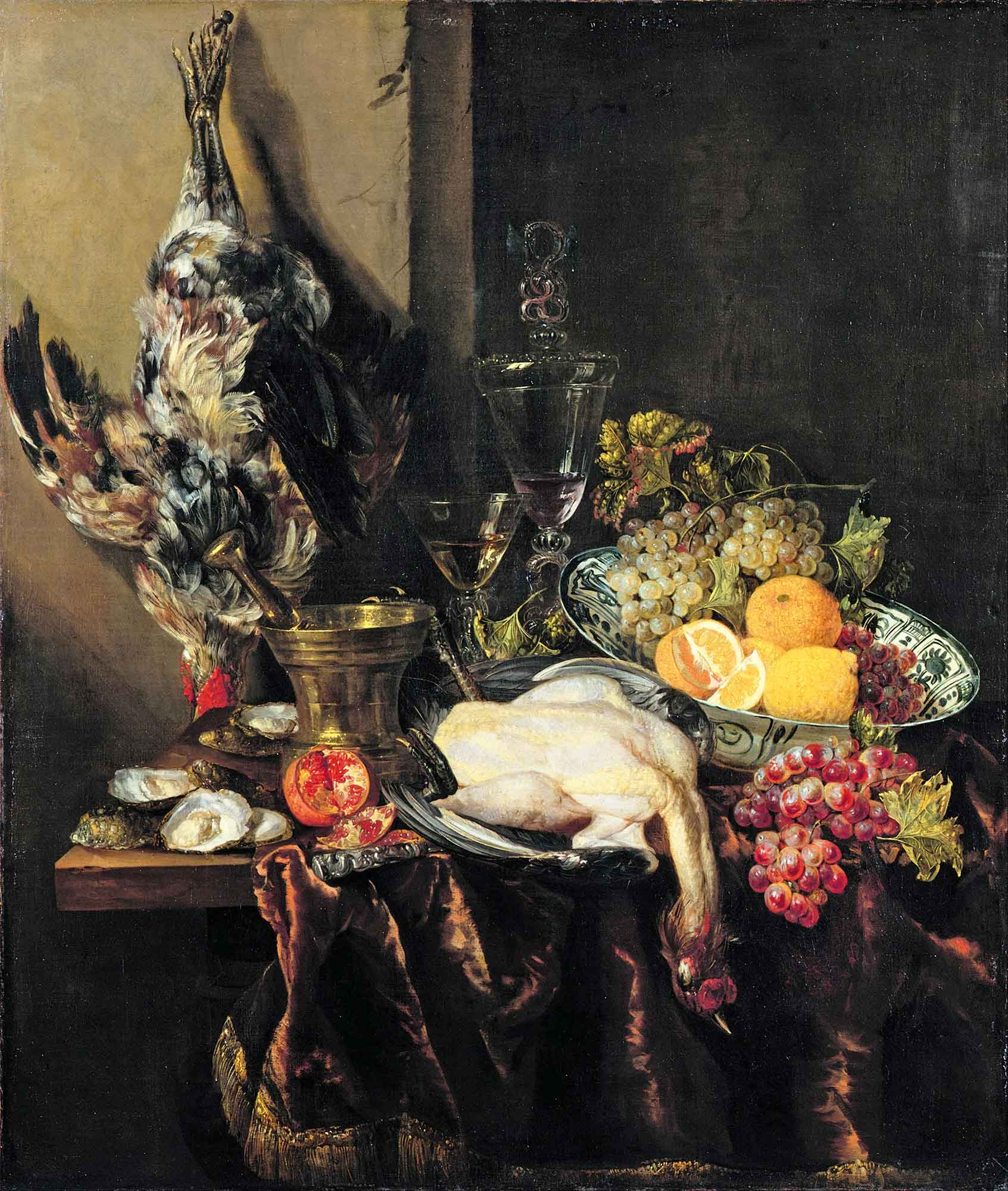 Abraham Hendrick van Beijeren Kümes Hayvanları ve Meyveler