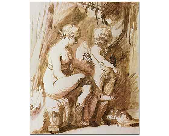 Adam Elsheimer Venüs ve Cupid