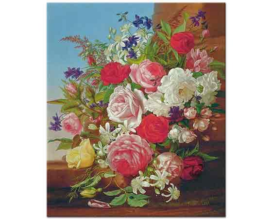 Adelheid Dietrich Çiçekler ile Natürmort