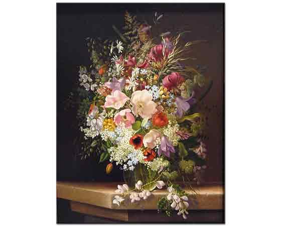 Adelheid Dietrich Vazoda Çiçekler ile Natürmort