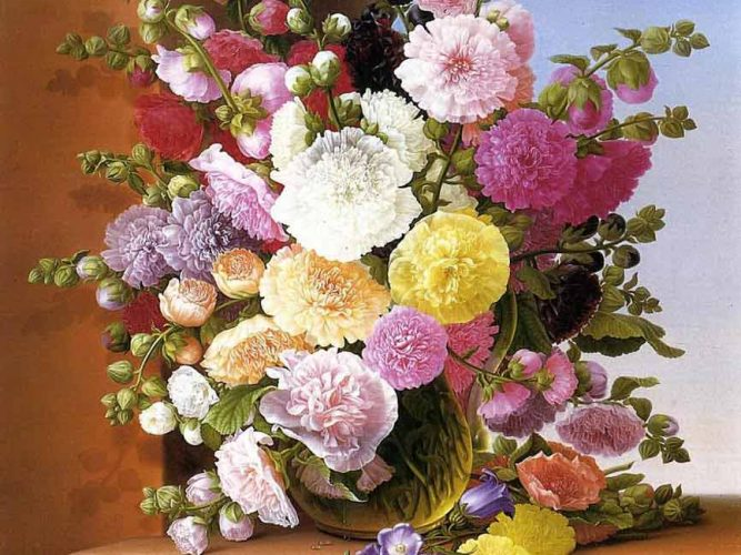 Adelheid Dietrich Çiçek Buketi tablosu