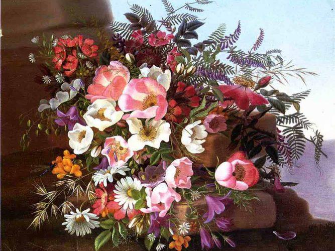 Adelheid Dietrich Kır Çiçekleri tablosu