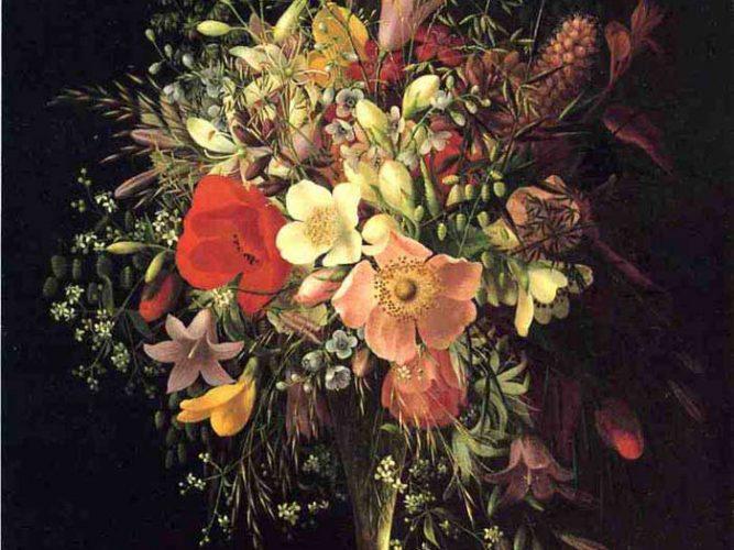 Adelheid Dietrich Çiçekli Natürmort