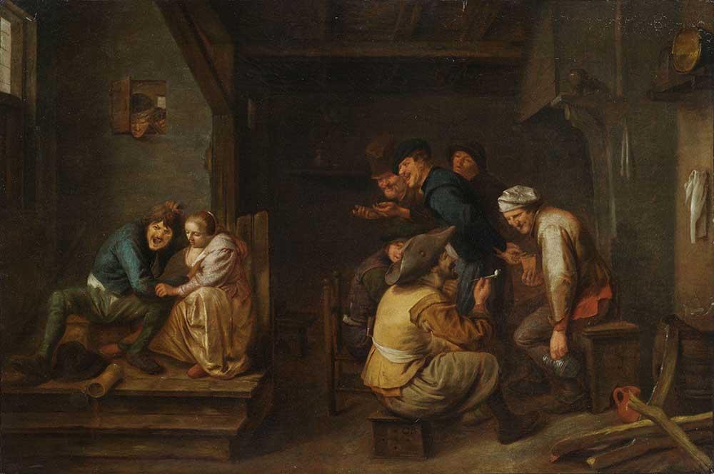 Adriaen Brouwer Tavernada Eğlenen Köylüler
