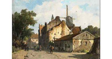 Adrianus Eversen Hollanda'da Bir Sokak