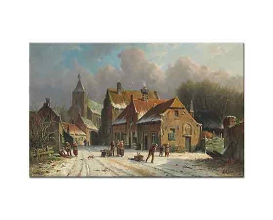 Adrianus Eversen Köyde Kış (Hattem)