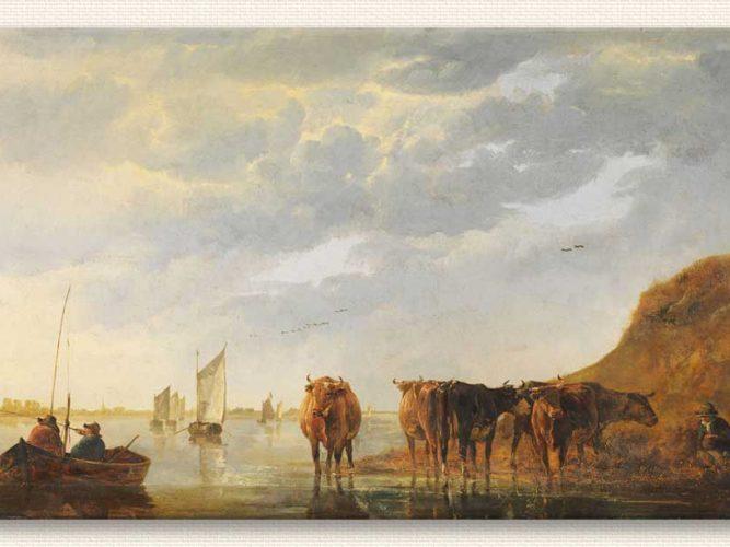 Aelbert Cuyp Çoban Beş ineğiyle Dere Kenarında