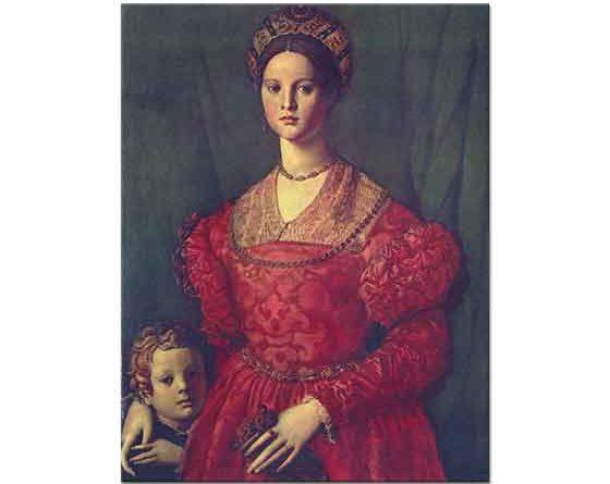 Agnolo Bronzino Genç Kadın ve Oğlu