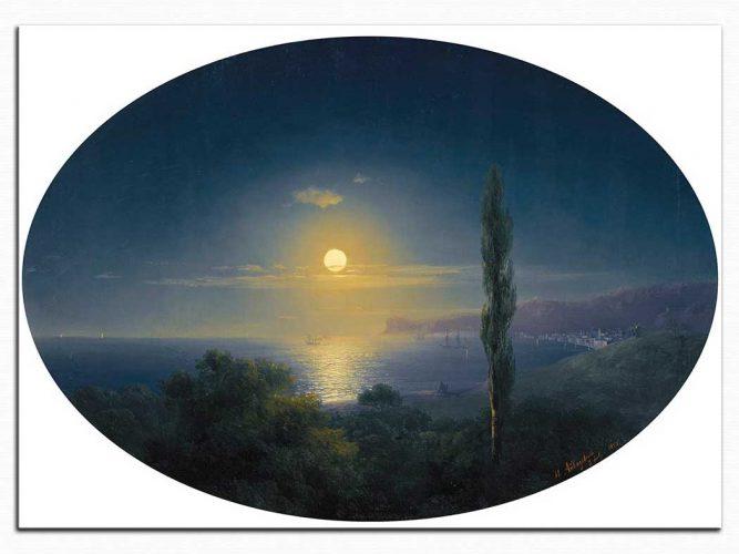 Ivan Konstantinovich Aivazovsky Kırım Kıyılarında Mehtap