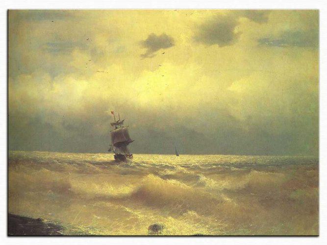 Ivan Konstantinovich Aivazovsky Kıyıya Yakın Gemi