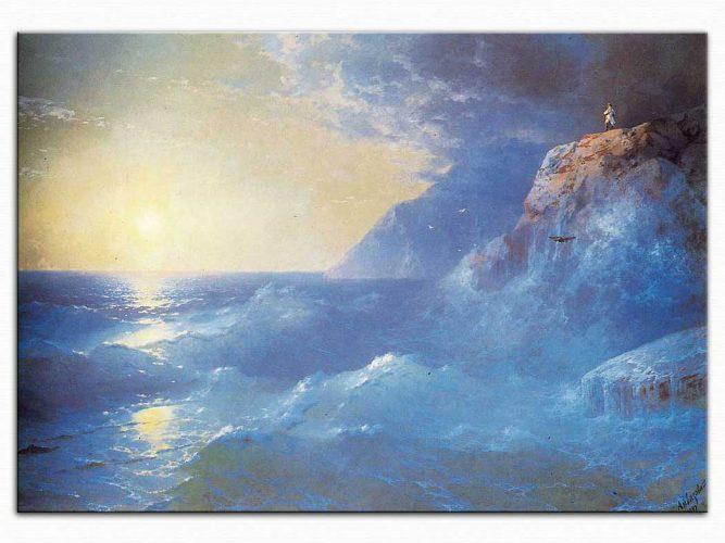 Ivan Konstantinovich Aivazovsky Napolyon St Helen Adasında