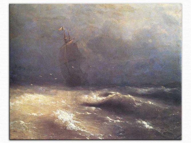 Ivan Konstantinovich Aivazovsky Nice Açıklarında Fırtına