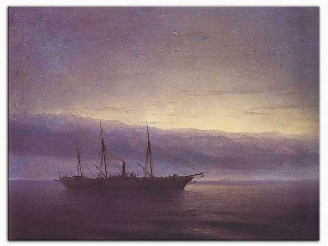 Ivan Konstantinovich Aivazovsky Savaşı Bekleyen Gemi İstanbul