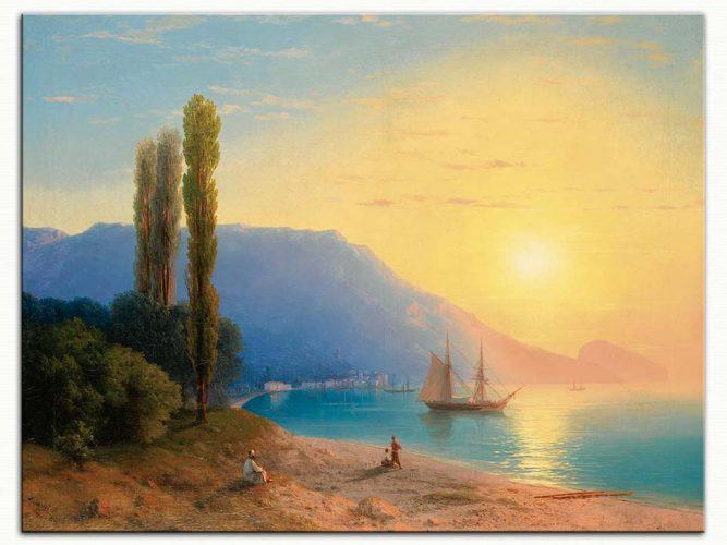 Ivan Konstantinovich Aivazovsky Yaltada Günbatımı