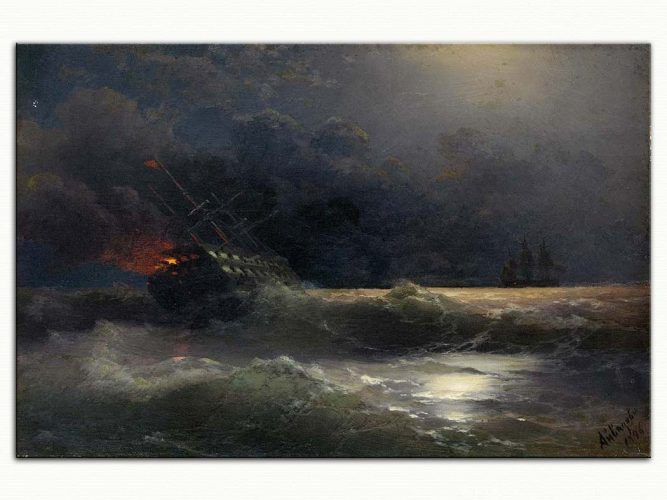Ivan Konstantinovich Aivazovsky Yanan Gemi