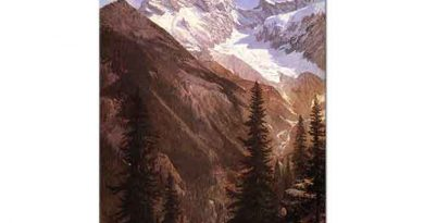 Albert Bierstadt Asulkan Buzulu Kanada