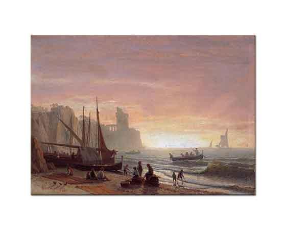 Albert Bierstadt Balıkçı Filosu