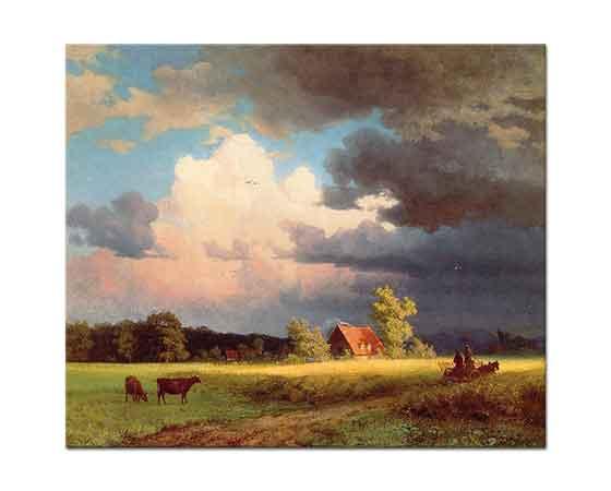 Albert Bierstadt Bavaria Manzarası