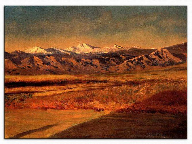 Albert Bierstadt Büyük Teton dağları