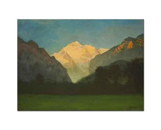 Albert Bierstadt Buzul ya da Tepede Günbatımı