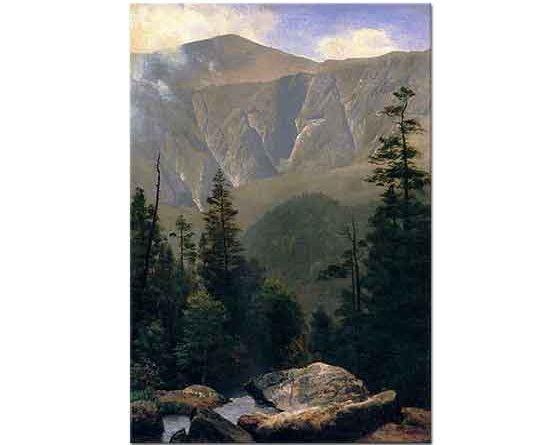 Albert Bierstadt Dağlar ve Ağaçlar