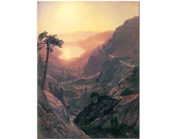 Albert Bierstadt Donner Gölüne Bakış Kaliforniya