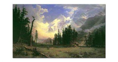 Albert Bierstadt Engadine Vadisi