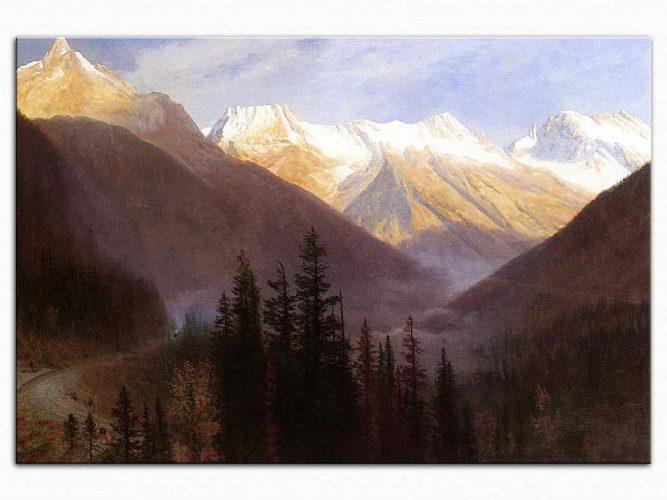 Albert Bierstadt Glacier Dağlarında Gündoğumu