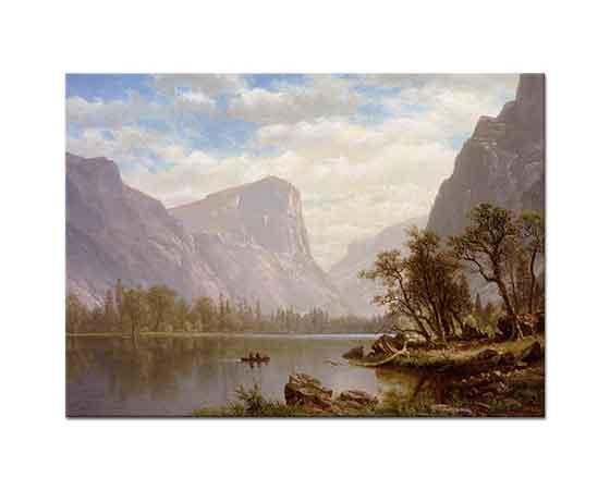 Albert Bierstadt Göl Manzarası