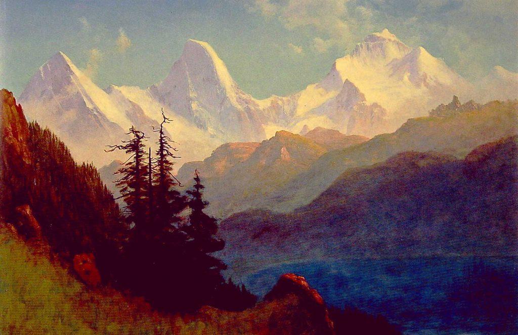 Albert Bierstadt Grand Teton'un ihtişamı
