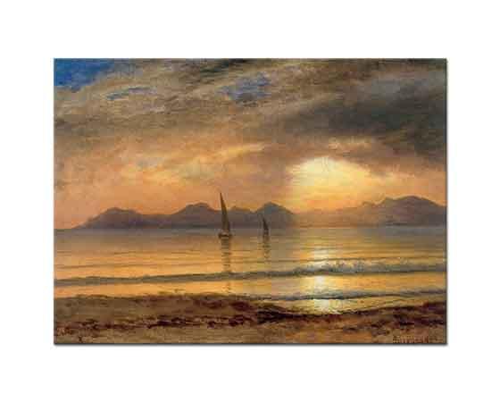 Albert Bierstadt Gün Batımında Kayıklar