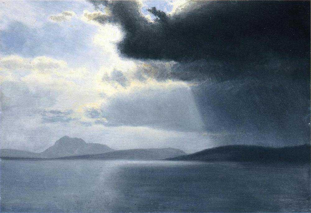 Albert Bierstadt Hudson Nehrinde Yaklaşan Fırtına
