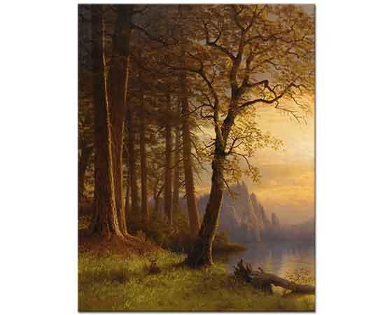 Albert Bierstadt Kaliforniyada Günbatımı Yosemite