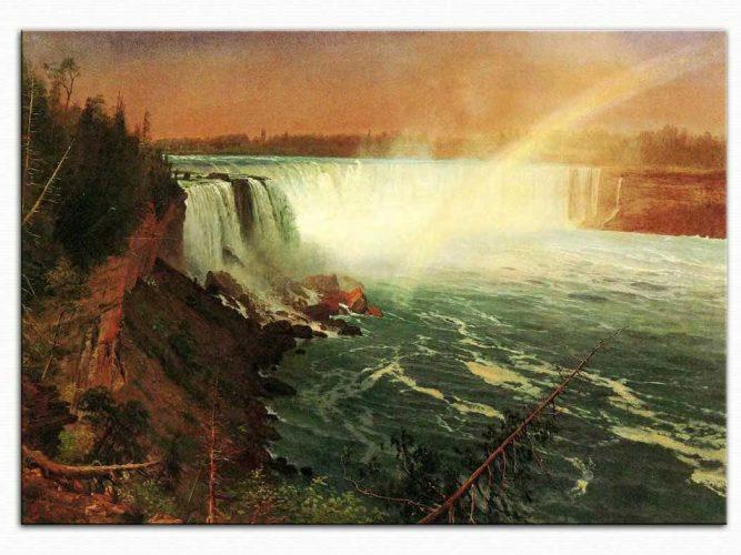 Albert Bierstadt Niyagara Şelalesi Manzarası