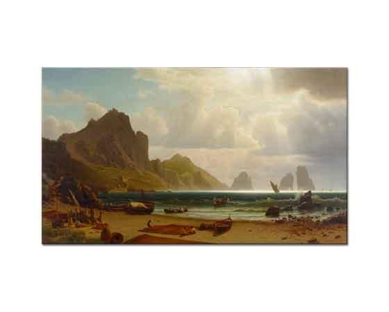 Albert Bierstadt Piccola Marinası Capri