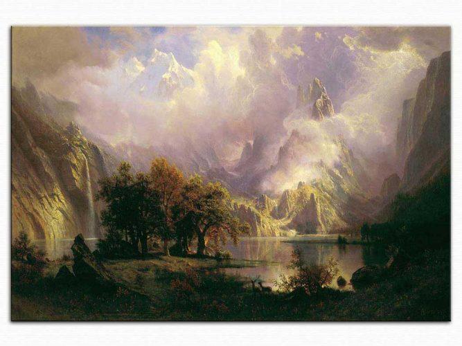 Albert Bierstadt Rocky Dağı tablosu