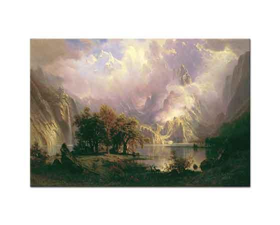 Albert Bierstadt Rocky Dağı Manzarası