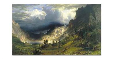 Albert Bierstadt Rocky Dağlarında Fırtına 01