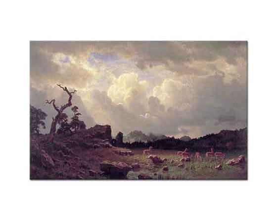Albert Bierstadt Rocky Dağlarında Fırtına