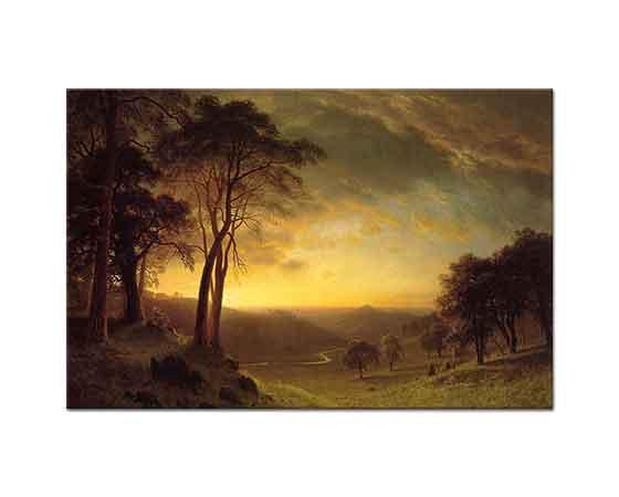 Albert Bierstadt Sacramento Nehri Vadisi