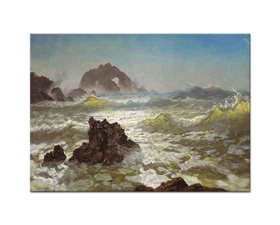 Albert Bierstadt Seal Kayalıkları Kaliforniya