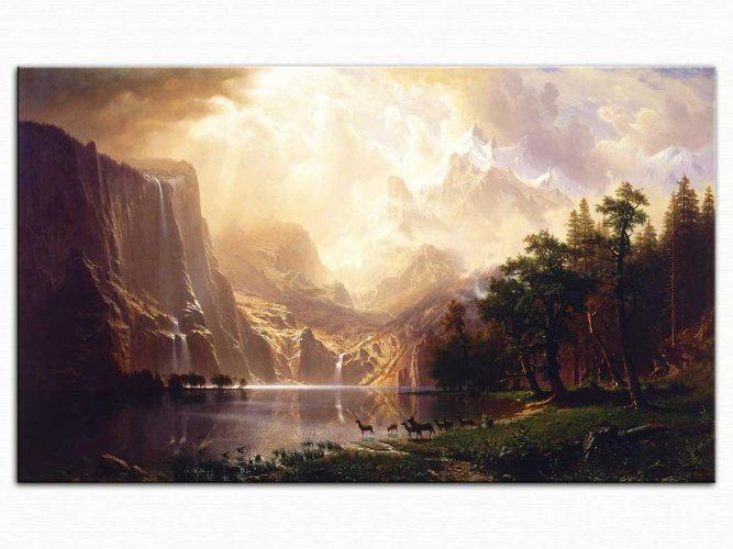 Albert Bierstadt Sierra Nevada Dağları Kaliforniya