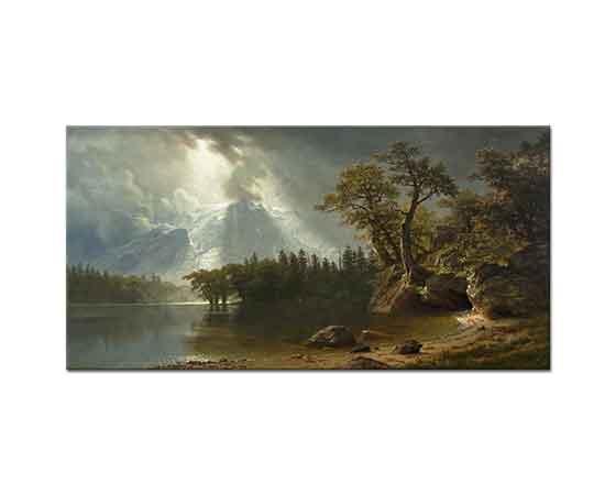 Albert Bierstadt Sierra Nevada'dan Geçen Fırtına
