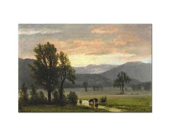 Albert Bierstadt Sığırlar