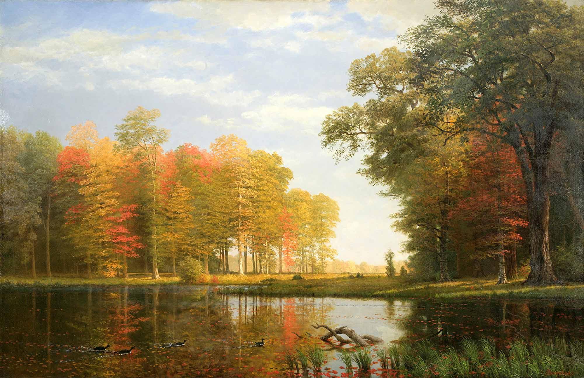 Albert Bierstadt Sonbahar Ağaçları