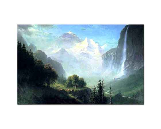 Albert Bierstadt Staubbach Şelalesi