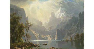 Albert Bierstadt Taho Gölü Kıyısında Dağlar