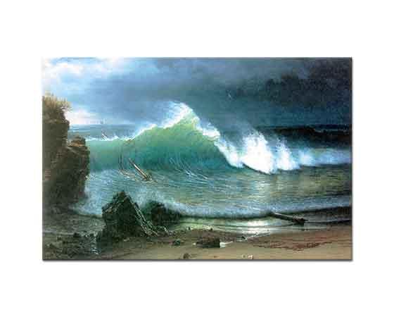 Albert Bierstadt Turkuaz Deniz Kıyısı