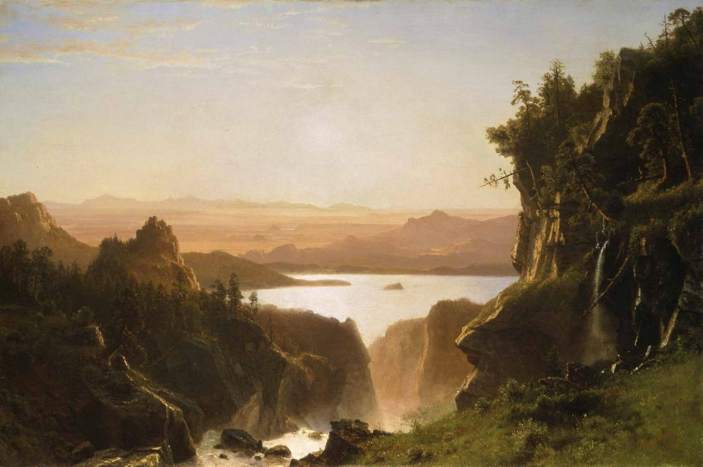 Albert Bierstadt Wind Nehri Ağzı Wyoming
